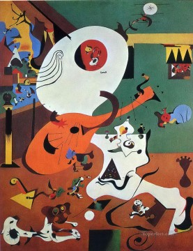 100 Great Art Painting - Joan Miro Dutch Interior I