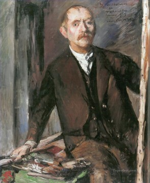 portrait Painting - Lovis Corinth Self portrait in Front of the Easel