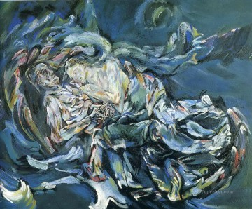 100 Great Art Painting - Oskar Kokoschka Bride of the Wind