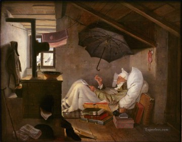 100 Great Art Painting - Carl Spitzweg The Poor Poet