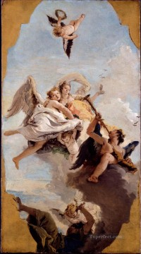 100 Great Art Painting - Giovanni Battista Tiepolo Virtue and Nobility Putting Ignorance to Flight