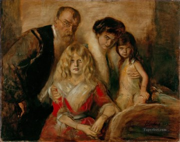 100 Great Art Painting - Franz von Lenbach with Wife and Daughters
