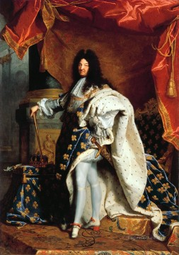 100 Great Art Painting - Hyacinthe Rigaud Portrait of Louis XIV