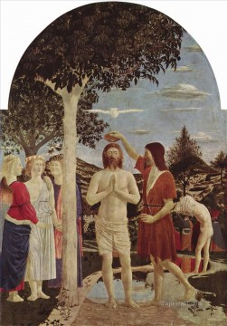 baptism of christ Painting - Piero della Francesca The Birth of Christ