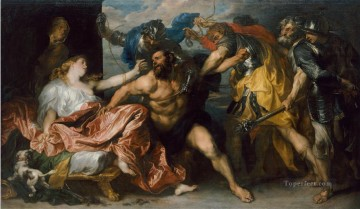 100 Great Art Painting - Anthonis van Dyck Samson and Delilah