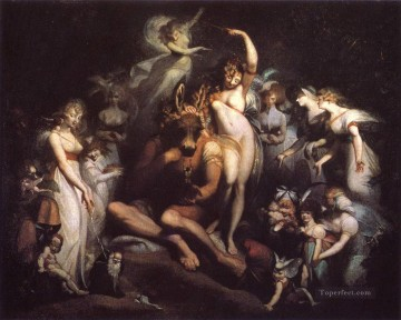 Henry Fuseli Titania Caressing Note with Donkey Head Oil Paintings