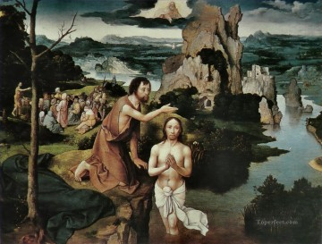 baptism of christ Painting - Joachim Patinir The Baptism of Christ