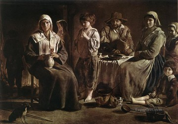 100 Great Art Painting - Louis or Antoine Le Nain Peasant Family