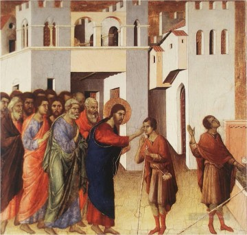 100 Great Art Painting - Duccio Christ Healing a Blind Man