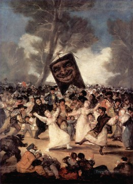 100 Great Art Painting - Francisco Goya Carnival Scene
