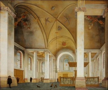 100 Great Art Painting - Pieter Saenredam Interior of Grote Kerk in Haarlem