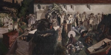 100 Great Art Painting - Stanley Spencer The Resurrection Cookham