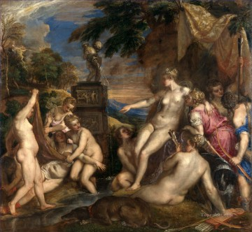 100 Great Art Painting - Titian Diana and Callisto