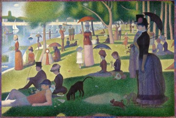 grand Painting - Georges Seurat Sunday Afternoon on the Island of La Grande Jatte
