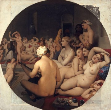100 Great Art Painting - Jean Auguste Dominique Ingres The Turkish Bath
