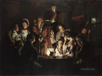 100 Great Art Painting - Joseph Wright of Derby An Experiment on a Bird in the Air Pump