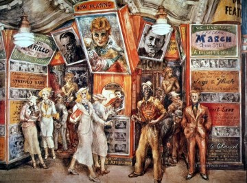 100 Great Art Painting - Reginald Marsh Twenty Cent Movie