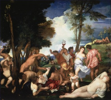 100 Great Art Painting - Titian Bacchanals