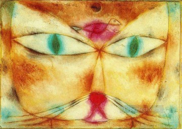 Abstract and Decorative Painting - Cat and Bird Abstract Expressionism