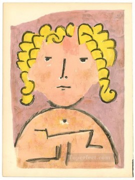 Abstract Expressionism Painting - Head of a child Abstract Expressionism