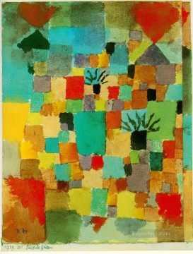 Abstract and Decorative Painting - Southern Tunisian gardens Abstract Expressionism