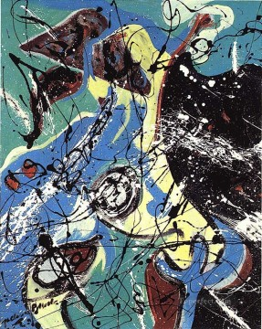 Abstract Expressionism Painting - Waterbirds Abstract Expressionism