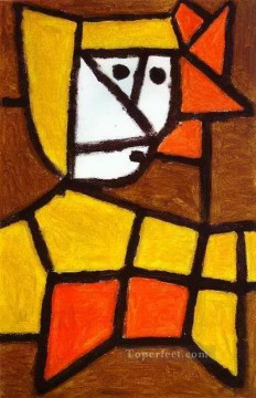 abstract Oil Painting - Woman in Peasant Dress Abstract Expressionism