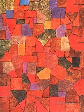 Famous Abstract Painting - Mountain Village Autumnal Abstract Expressionism
