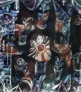 Abstract and Decorative Painting - Still Life with Thistle Bloom Abstract Expressionism