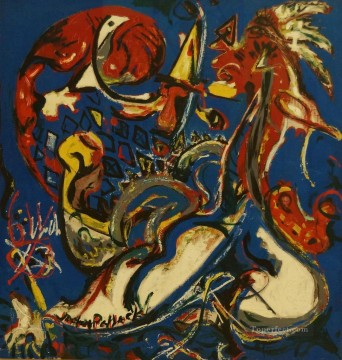 Abstract Expressionism Painting - The Moon Woman Cuts the Circle Abstract Expressionism