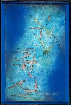 Abstract Expressionism Painting - Fish Image Abstract Expressionism
