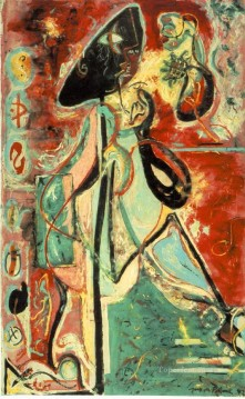 Famous Abstract Painting - Moon Woman Abstract Expressionism