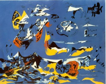 Famous Abstract Painting - Blue Moby Dick Abstract Expressionism