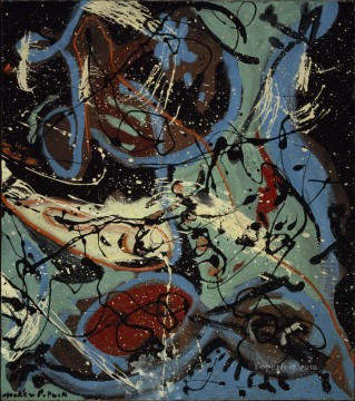 Famous Abstract Painting - Composition with Pouring II Abstract Expressionism