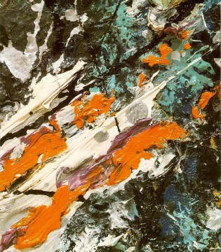 Abstract Expressionism Painting - Full fathom five Abstract Expressionism