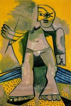 Baigneur debout 1971 Cubism Oil Paintings