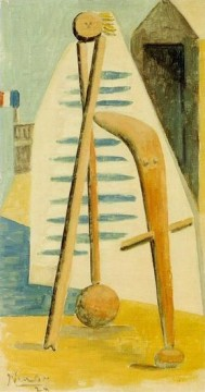 Baigneuse La plage de Dinard 1928 Cubism Oil Paintings