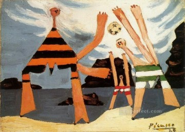 Baigneuses au ballon 3 1928 Cubism Oil Paintings
