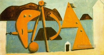 Baigneuses sur la plage 1928 Cubism Oil Paintings