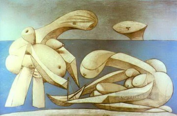 Bathers with a Toy Boat 1937 Cubism Oil Paintings