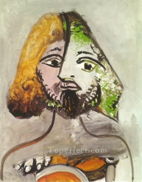 Buste d homme 1971 Cubism Oil Paintings