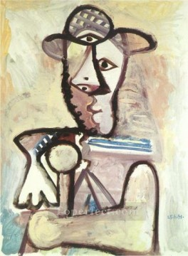Buste d homme 2 1971 Cubism Oil Paintings