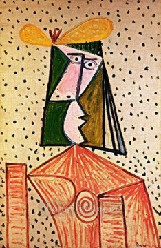 Buste de femme 1 1944 Cubism Oil Paintings