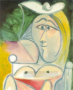 Buste de femme 1 1971 Cubism Oil Paintings