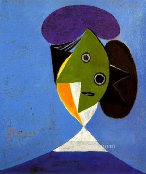 Buste de femme 1935 Cubism Oil Paintings