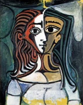 Buste de femme 2 1940 Cubism Oil Paintings