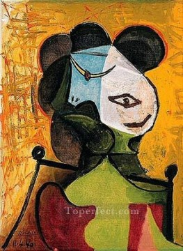 Buste de femme 2 1960 Cubism Oil Paintings