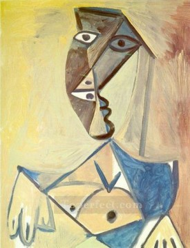 Buste de femme 2 1971 Cubism Oil Paintings