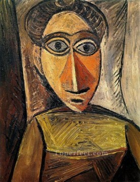Buste de femme 3 1907 Cubism Oil Paintings