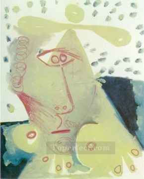 Buste de femme 3 1971 Cubism Oil Paintings
